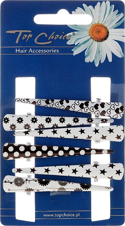 Haarspangen 25020 schwarz-weiß - Top Choice — Bild N1