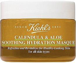 Düfte, Parfümerie und Kosmetik Beruhigende Feuchtigkeitsmaske für das Gesicht mit Ringelblume und Aloe Vera - Kiehl`s Calendula & Aloe Soothing Hydration Mask