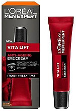 Düfte, Parfümerie und Kosmetik Vitalisierende Anti-Aging Augencreme mit mit französischem Weinreben-Extrakt - L'Oreal Paris Men Expert Vita Lift Anti-Ageing Eye Cream