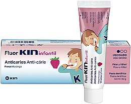 Düfte, Parfümerie und Kosmetik Anti-Karies Zahnpasta für Kinder - Kin Fluorkin Infantil Strawberry Anticaries Toothpaste For Children