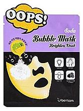 Düfte, Parfümerie und Kosmetik Reinigende Bubble-Maske für das Gesicht mit Zitronen-Limetten-Extrakt - Berrisom Soda Bubble Mask Brighten Fruit