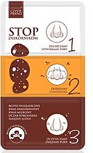 Düfte, Parfümerie und Kosmetik 3in1 Nasenporenstreifen mit Vulkanschlamm - Czyste Piekno Clear Beauty Treatment Against Blakheads Imperfections