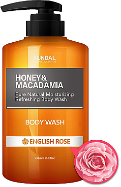 Duschgel mit englischer Rose - Kundal Honey & Macadamia Body Wash English Rose — Bild N2
