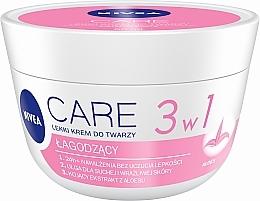 Düfte, Parfümerie und Kosmetik Weichmachende Gesichtscreme für trockene und empfindliche Haut mit Aloe Vera - Nivea Care Light Soothing Cream