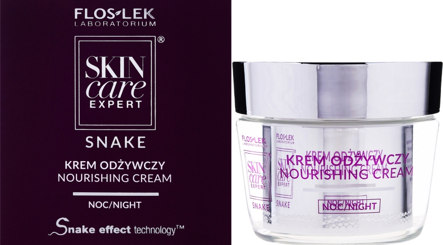 Pflegende Nachtcreme - FlosLek Skin Care Expert Snake Noirishing Night Cream — Bild N1