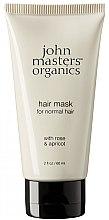 Düfte, Parfümerie und Kosmetik Haarmaske für normales Haar mit Rose und Aprikose - John Masters Organics Hair Mask For Normal Hair with Rose & Apricot (Mini)