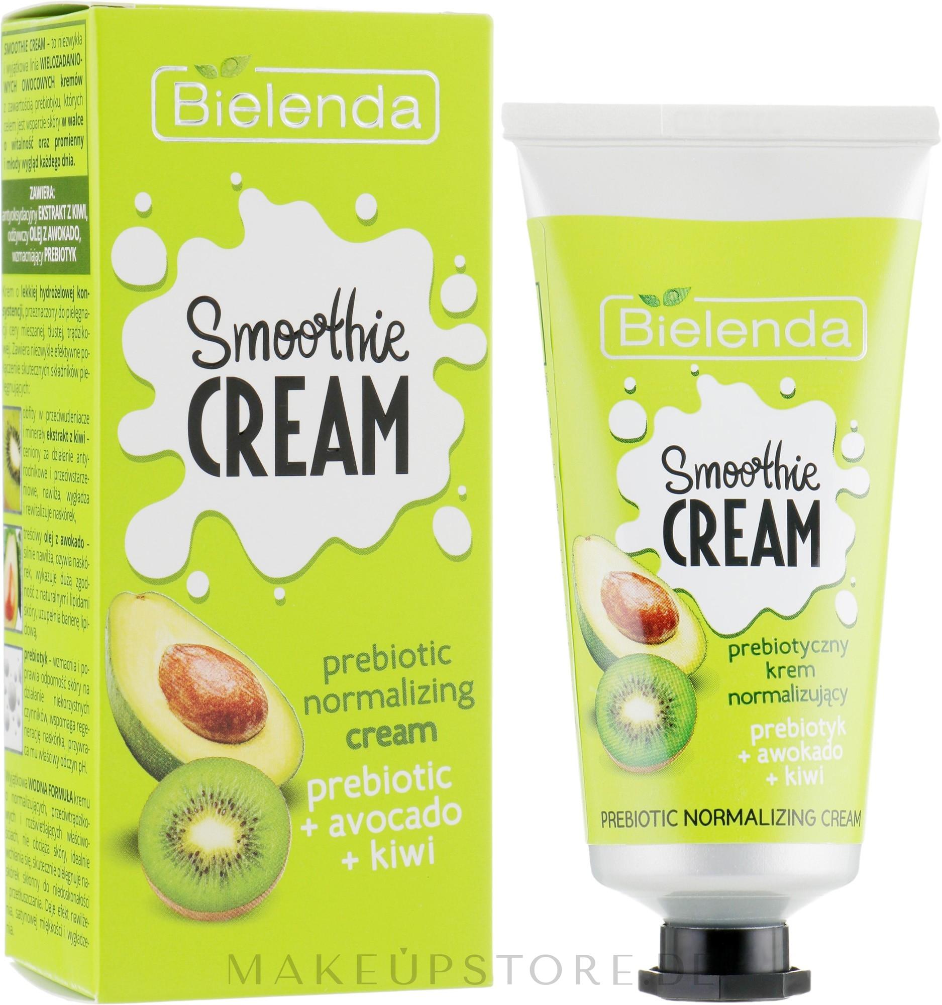 Normalisierende Gesichtscreme mit Avocado und Kiwi - Bielenda Smoothie Cream Avocado And Kiwi — Bild 50 ml