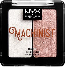 Düfte, Parfümerie und Kosmetik Highlighter Duo - NYX Professional Makeup Machinist Highlighter Duo