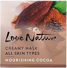 Düfte, Parfümerie und Kosmetik Pflegende Gesichtsmaske mit Kakao - Oriflame Love Nature Creamy Mask