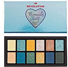 Düfte, Parfümerie und Kosmetik Lidschattenpalette - I Heart Revolution Mermaid's Heart Eyeshadow Palette