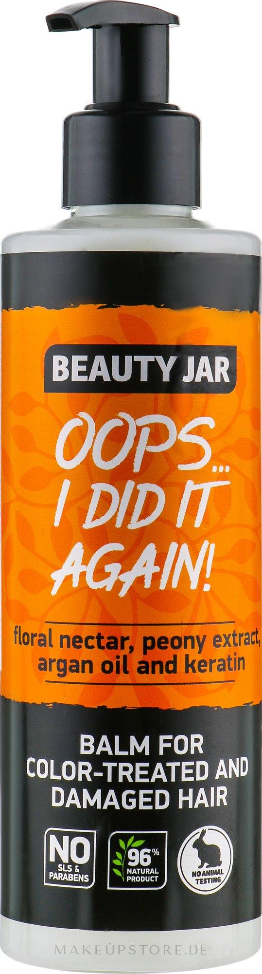 "Haarspülung ""Oops... I Did It Again!"" für gefärbtes und beschädigtes Haar - Beauty Jar Oops I Did It Again — Bild 250 ml"