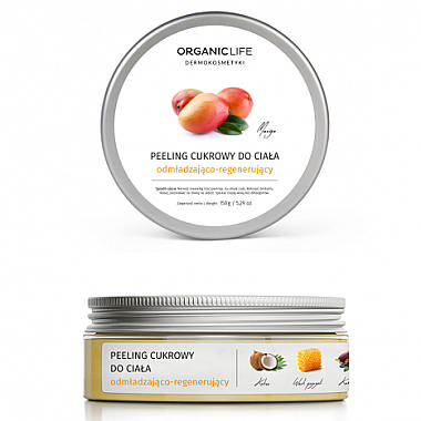 Pflegendes und regenerierendes Zucker-Körperpeeling mit Macadamiaöl - Organic Life Dermocosmetics Scrub — Bild N1