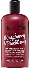 "Düfte, Parfümerie und Kosmetik Badeschaum und Duschcreme ""Raspberry & Blackberry"" - I Love... Raspberry & Blackberry Bubble Bath And Shower Creme"