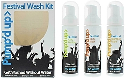 Düfte, Parfümerie und Kosmetik Körperpflegeset - Pump'd Up Festival Kit (Shampoo 70g + Antibakterielles Duschgel 70g + Handdesinfektionsmittel 70g)