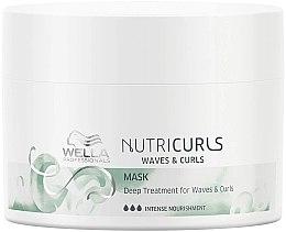 Düfte, Parfümerie und Kosmetik Intensiv Haarmaske für lockiges Haar mit Vitamin E, Mineralien und Proteinen - Wella Professionals Nutricurls Mask (Mini)