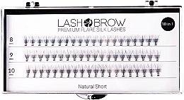 Düfte, Parfümerie und Kosmetik Wimpernbüschel-Set - Lash Brown Premium Flare Silk Lashes Natural Short