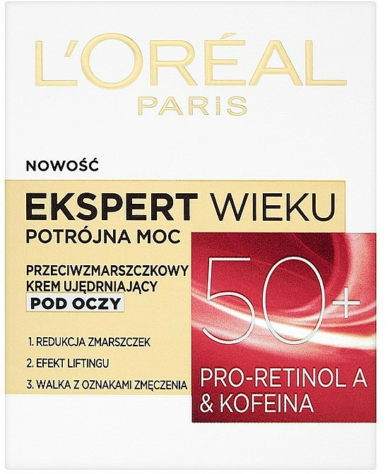 Augenkonturcreme - L'Oreal Paris Age Specialist Expert Eye Cream 50+ — Bild N1
