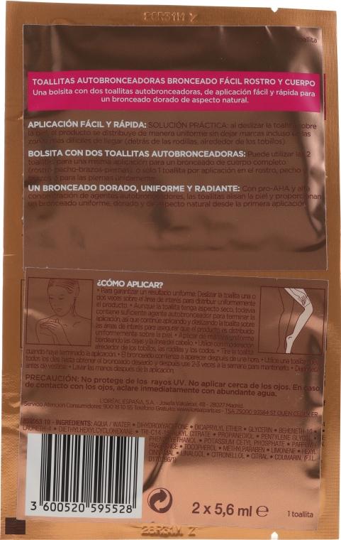 Selbstbräunungstücher für Gesicht und Körper - L'oreal Sublime Self-Tan Face And Body Wipes — Bild N2