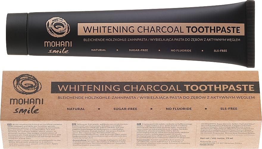 Natürliche bleichende Holzkohle-Zahnpasta - Mohani Smile Whitening Charcoal Toothpaste — Bild N1