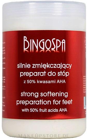 Starkweichmachende Zubereitung für Füße mit 50% Alpha-Fruchtsäuren - BingoSpa Strong Exfoliant for Feet with 50% AHA — Bild 1000 g