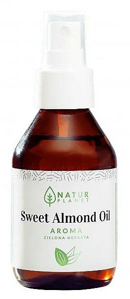100% Süßes Mandelöl und grüner Tee - Natur Planet Sweet Almond Oil Aroma Green Tea