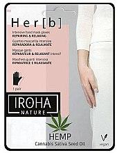 Düfte, Parfümerie und Kosmetik Intensiv regenerierende und entspannende Handmaske in Handschuhe - Iroha Nature Cannabis Hand Mask