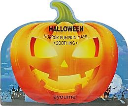 Düfte, Parfümerie und Kosmetik Beruhigende Tuchmaske für das Gesicht mit Kürbisextrakt - Ayoume Halloween Horror Pumpkin Mask Soothing