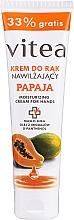 Düfte, Parfümerie und Kosmetik Feuchtigkeitsspendende und glättende Handcreme mit Papaya - Vitea Moisturizing Hand Cream Papaja