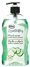 Düfte, Parfümerie und Kosmetik Flüssige Handseife mit Gurke und Aloe Vera - Bluxcosmetics Naturaphy Hand Soap