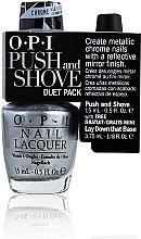 Düfte, Parfümerie und Kosmetik Set - O.P.I Push and Shove Duet Pack (nail/15ml + base/3.75ml)