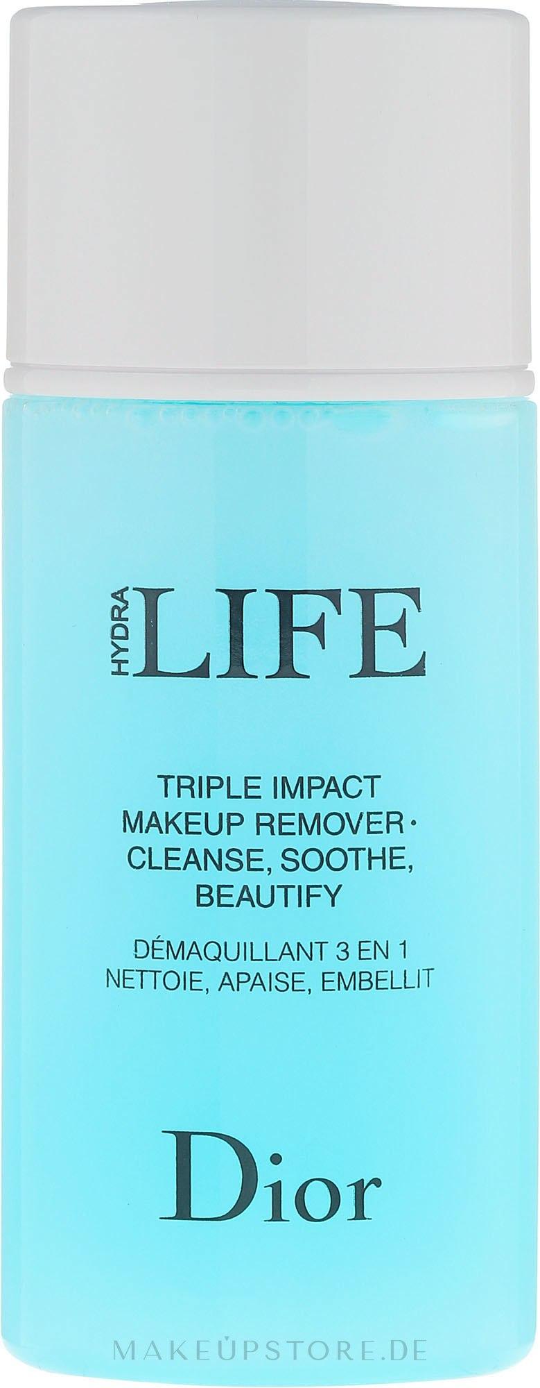 3in1 Make-up Entferner - Dior Hydra Life Triple Impact Makeup Remover — Bild 125 ml