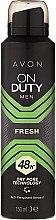 Düfte, Parfümerie und Kosmetik Deospray Antitranspirant - Avon On Duty Men Fresh 48H Deodorant Spray