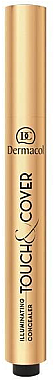 Illuminierender Concealer mit Pinsel - Dermacol Highlighting Elick Concealer Touch & Cover — Bild N1