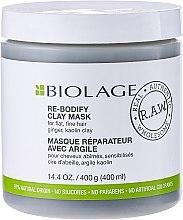 Düfte, Parfümerie und Kosmetik Maske für dünnes und geschwächtes Haar mit Tonerde - Biolage R.A.W. Re-Bodify Clay Mask