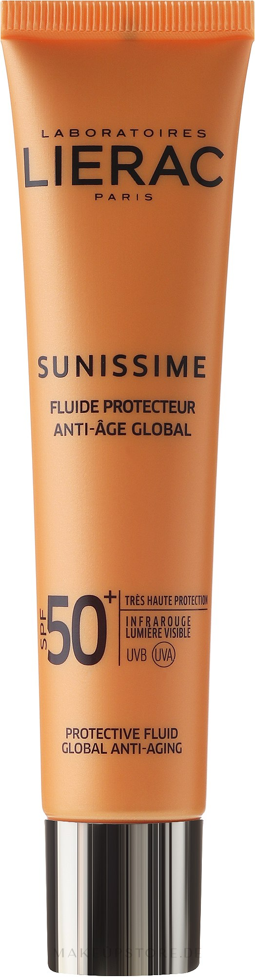 Vitalisierendes Schutzfluid LSF 50+ Globales Anti-Aging - Lierac Sunissime Fluide Protecteur Anti-Age SPF 50+ — Bild 40 ml