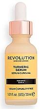 Düfte, Parfümerie und Kosmetik Beruhigendes Gesichtsserum mit Kurkumawurzelextrakt, Traubenkern- und Sonnenblumenöl - Revolution Skincare Turmeric Serum