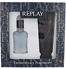 Düfte, Parfümerie und Kosmetik Replay Jeans Spirit! For Him - Kosmetikset (Eau de Toilette/30ml + Duschgel/100ml)