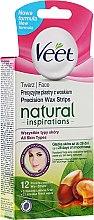 Düfte, Parfümerie und Kosmetik Wachsstreifen zur Gesichtsenthaarung mit Arganöl - Veet Natural Inspirations Face Wax Strips