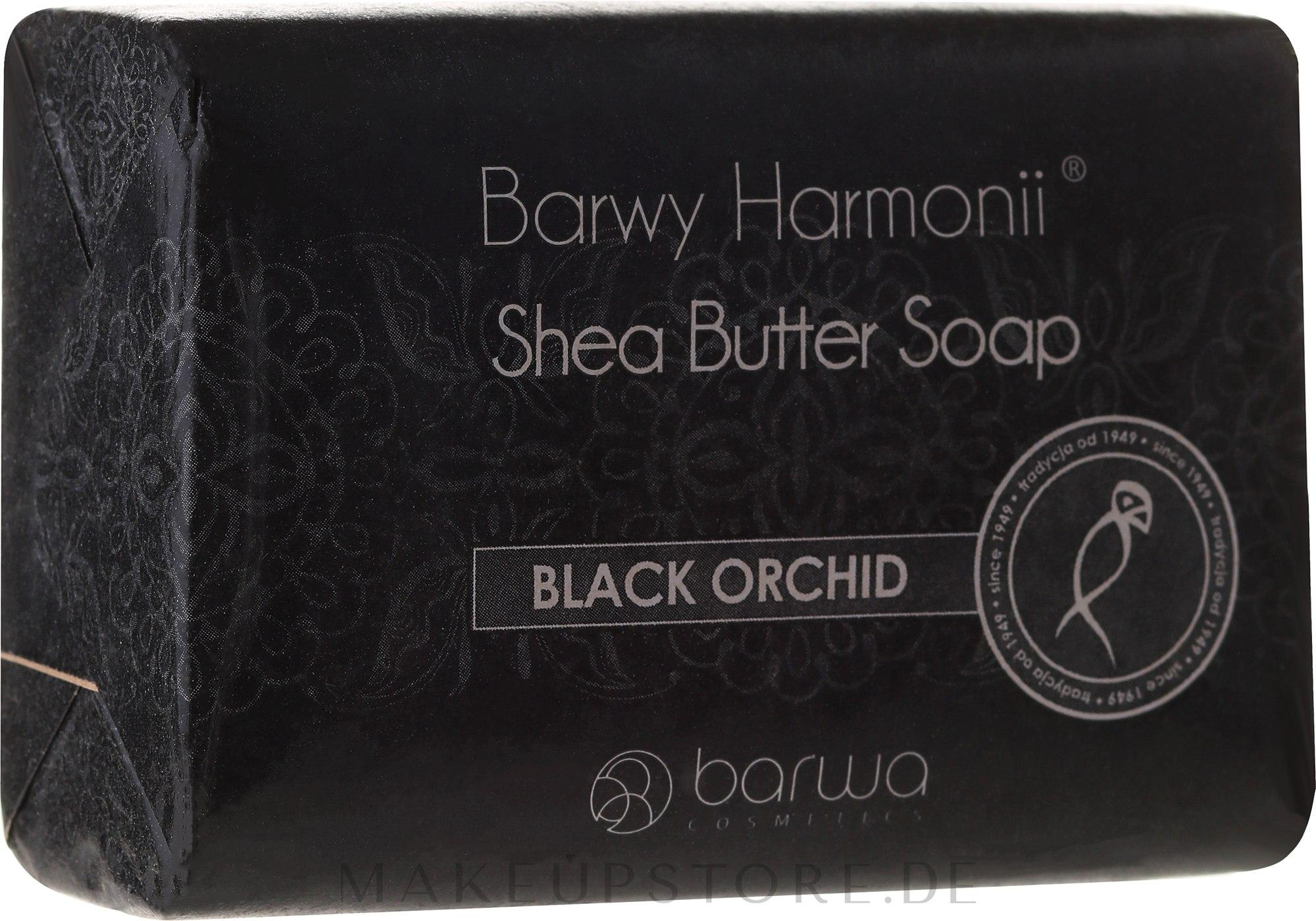 Sheabutter Seife mit Schwarzer Orchidee - Barwa Harmony Soap Black Orchid — Bild 190 g