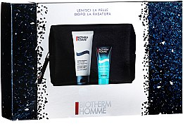 Düfte, Parfümerie und Kosmetik Körperpflegeset - Biotherm Homme (After Shave Balsam 40ml + Duschgel 100ml + Kosmetiktasche)