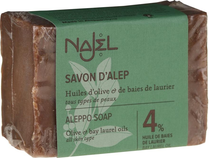 Aleppo-Seife mit 4% Olivenöl - Najel 4% Aleppo Soap — Bild N1