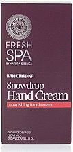 Düfte, Parfümerie und Kosmetik Pflegende Handcreme - Natura Siberica Fresh Spa Kam-Chat-Ka Snowdrop Hand Cream