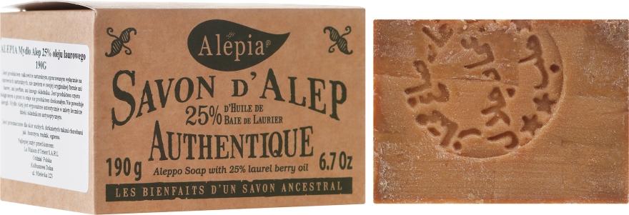 Aleppo-Seife mit 25% Lorbeeröl - Alepia Soap 25% Laurel — Bild N1