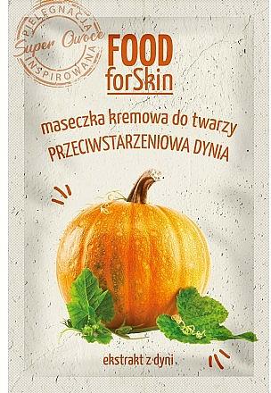 Anti-Aging Creme-Maske für das Gesicht mit Kürbisextrakt - Marion Food for Skin Cream Mask Anti-age Pumpkin