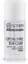 Düfte, Parfümerie und Kosmetik Schnelltrockender Nagelüberlack mit Glanz-Effekt - Astra Make-up Crystal Shine Top Coat