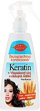 Haarspülung ohne Ausspülen mit Weizenkeimöl und Keratin - Bione Cosmetics Keratin + Grain Sprouts Oil Leave-in Conditioner — Bild N1
