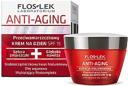 Düfte, Parfümerie und Kosmetik Anti-Falten Tagescreme mit Hyaluronsäure SPF 15 - Floslek Anti-Aging Anti-Wrinkle Day Cream SPF15