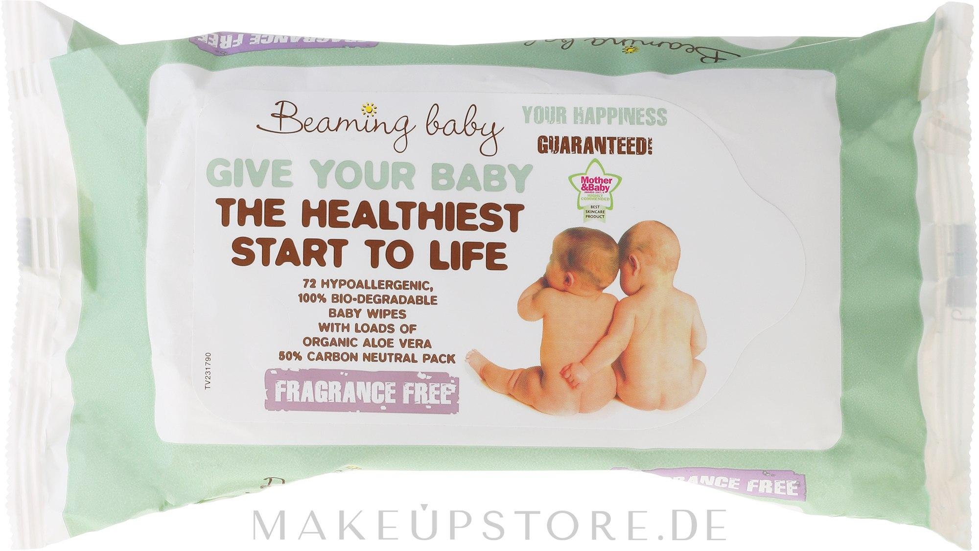 Bio-Feuchttücher für Neugeborene - Beaming Baby Organic Baby Wipes — Bild 72 St..