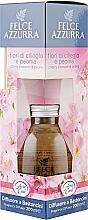Düfte, Parfümerie und Kosmetik Aroma-Diffusor mit Duftholzstäbchen Kirschblüten und Pfingstrose - Felce Azzurra Cherry Blossoms