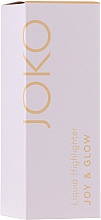 Düfte, Parfümerie und Kosmetik Flüssiger Highlighter - Joko Joy & Glow Liquid Highlighter